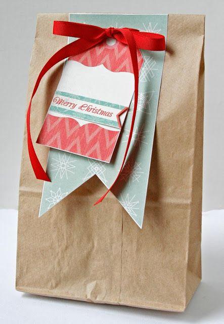 Украшение и декор крафт пакетов